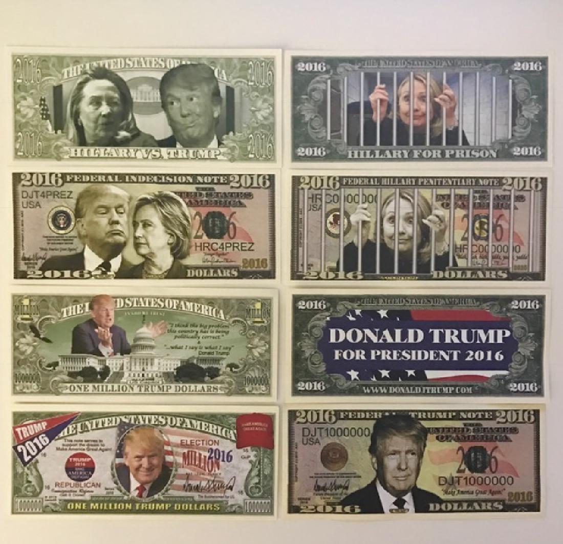 Rare Lot of 4 DONALD TRUMP Campaign Funny Money