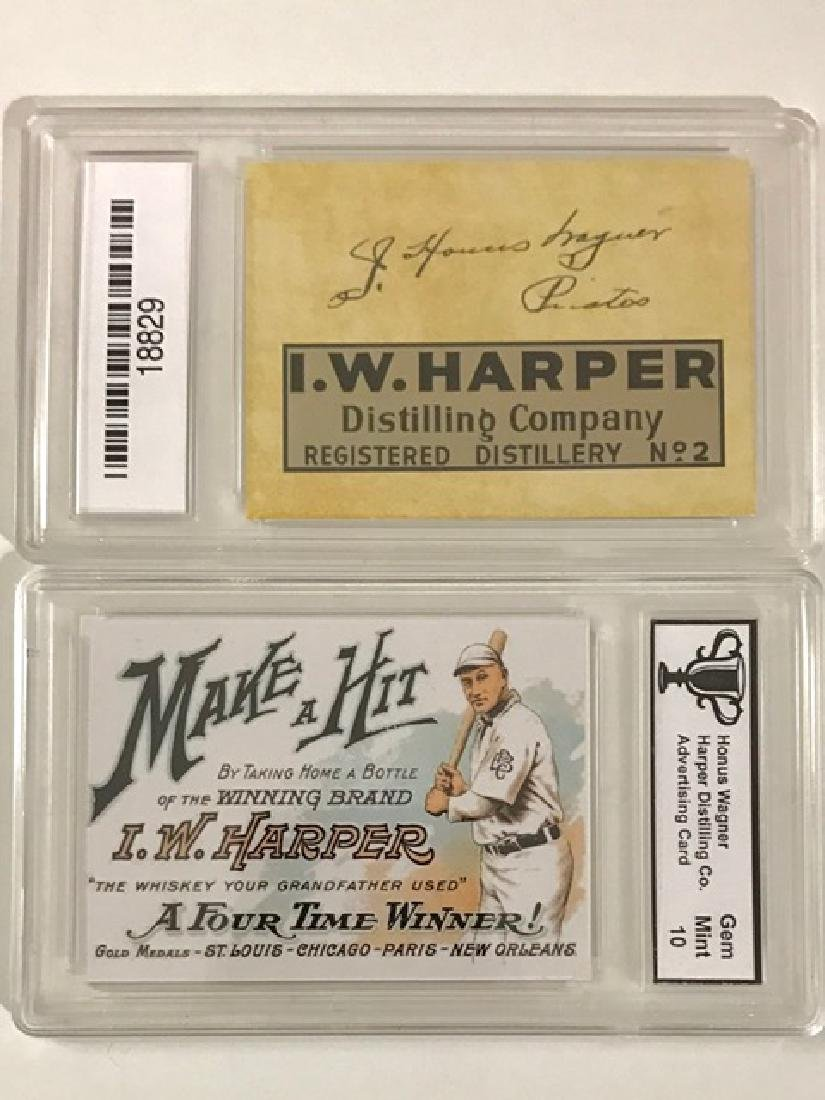 HONUS WAGER Gem 10 Advertising Baseball Card