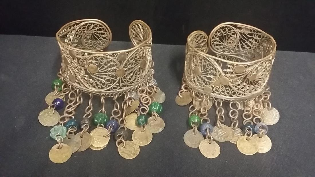 Vintage Hand Made Middle Eastern Ankle Cuffs
