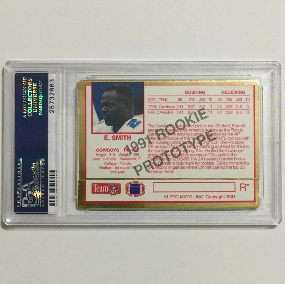 "Rare EMMITT SMITH ""Prototype"" Rookie Football Card - 2"