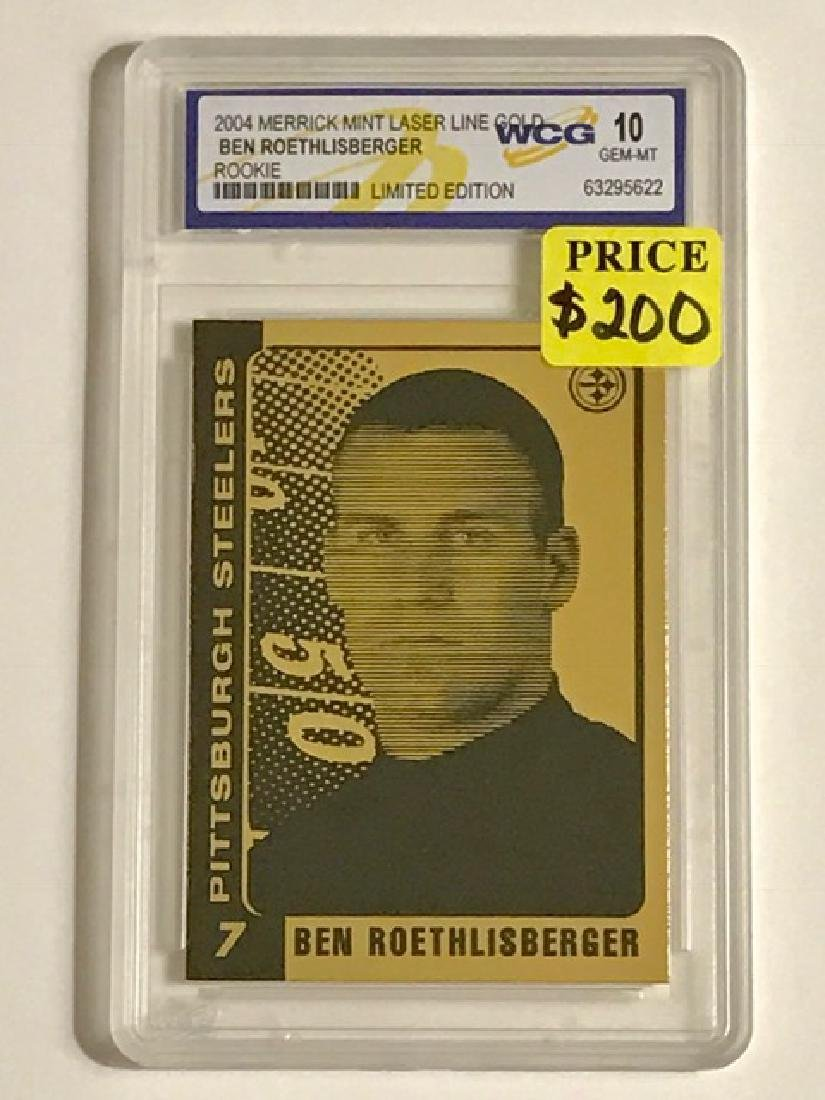 Rare BEN ROETHLISBERGER Gold Rookie Football Card