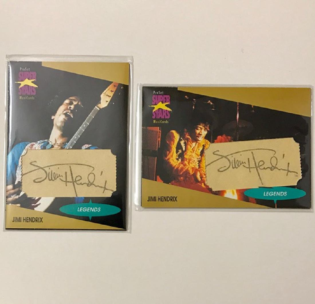RARE Lot of 2 Signed JIMI HENDRIX Magnetic Cards