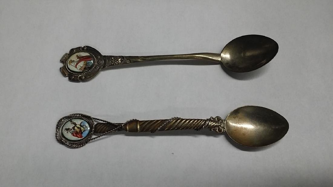 Lot of 2 European .900 Silver Spoons