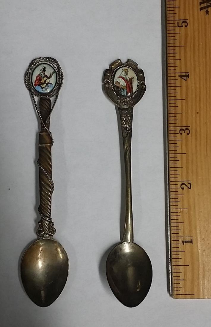 Lot of 2 European .900 Silver Spoons - 2