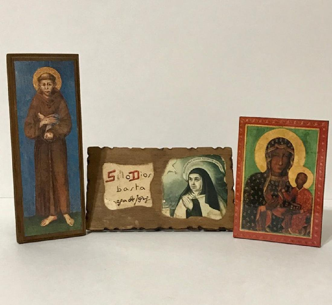 Lot of 3 Early Religious Icons – GREAT LOT