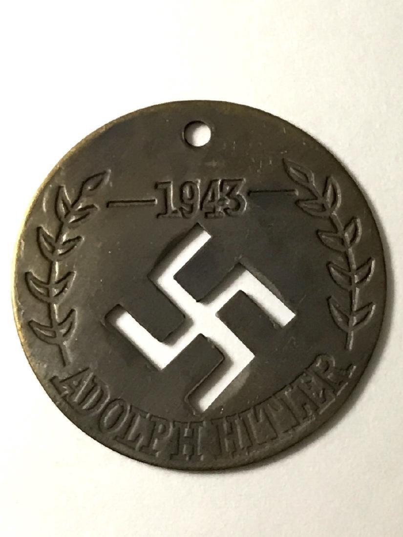 Dated 1943 ADOLF HITLER Nazi/Swastika Ephemera