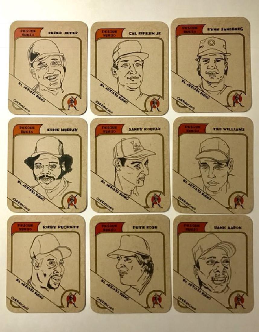 RARE Artist Proof Beer Advertising Baseball Cards