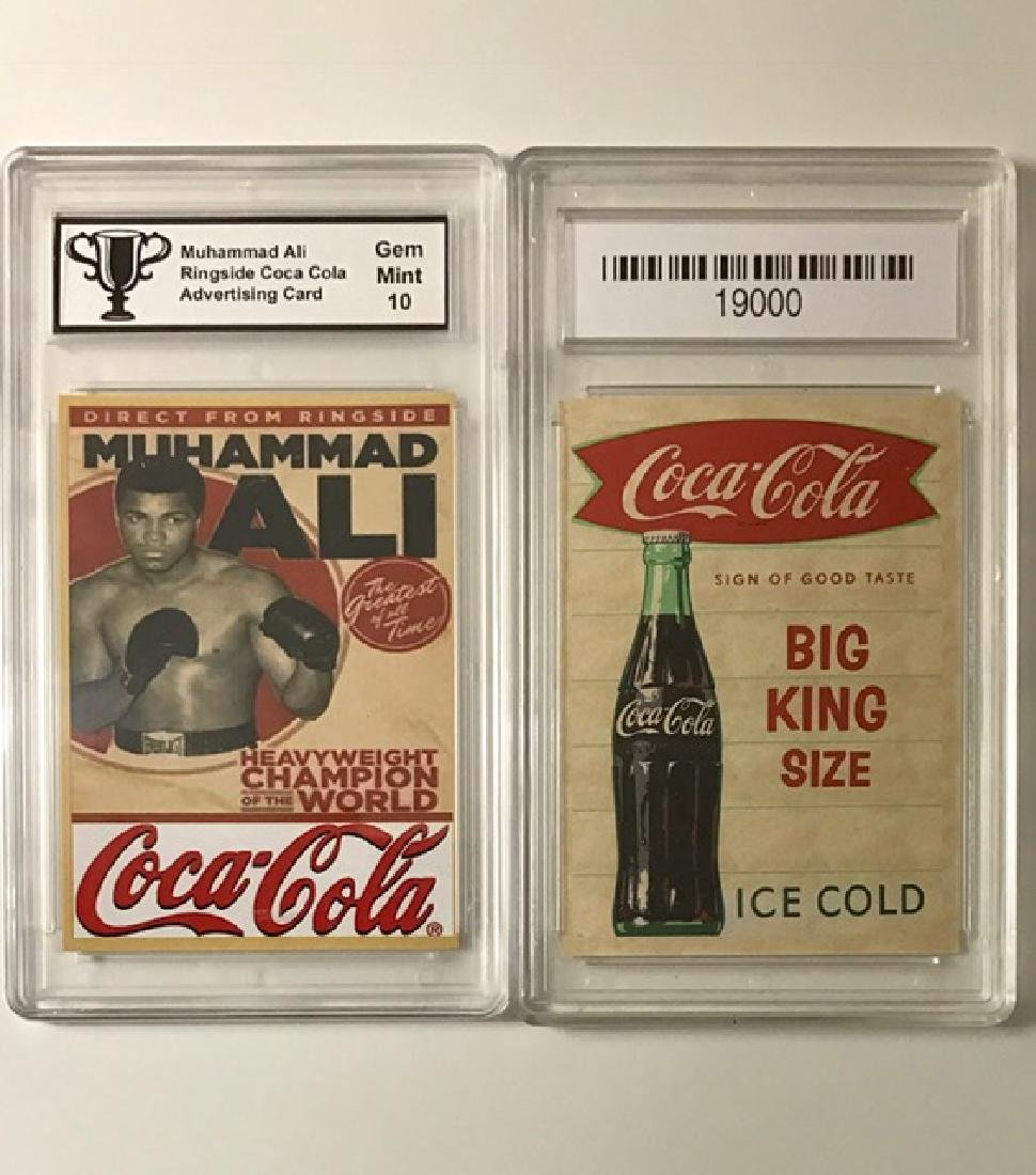 MUHAMMAD ALI Coca-Cola Advertising Boxing Card