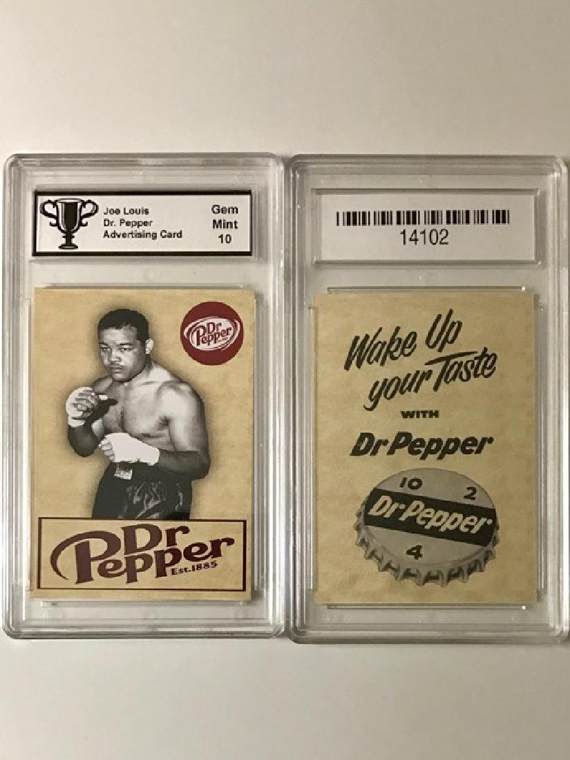 JOE LOUIS - Dr. Pepper Advertising Boxing Card