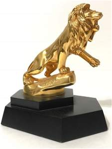 RARE Gold over Sterling LION PEUGEOT by M. MARX