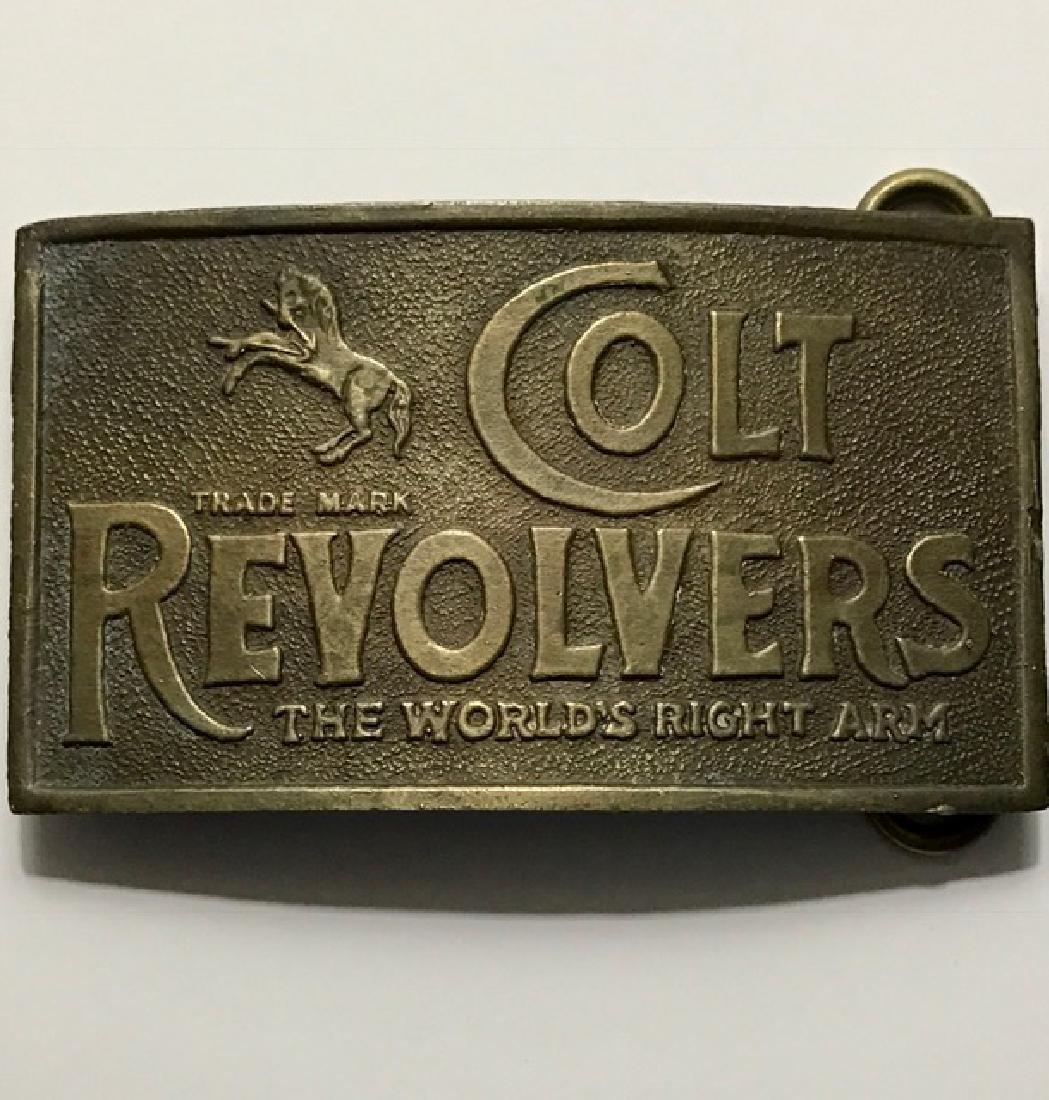 "Signed TIFFANY & CO ""Colt Revolvers"" Belt Buckle"