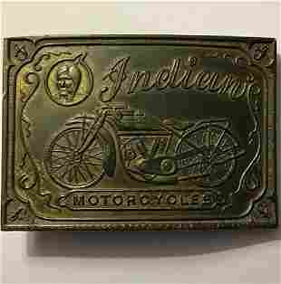 Early Authentic INDIAN Motorcycles Belt Buckle