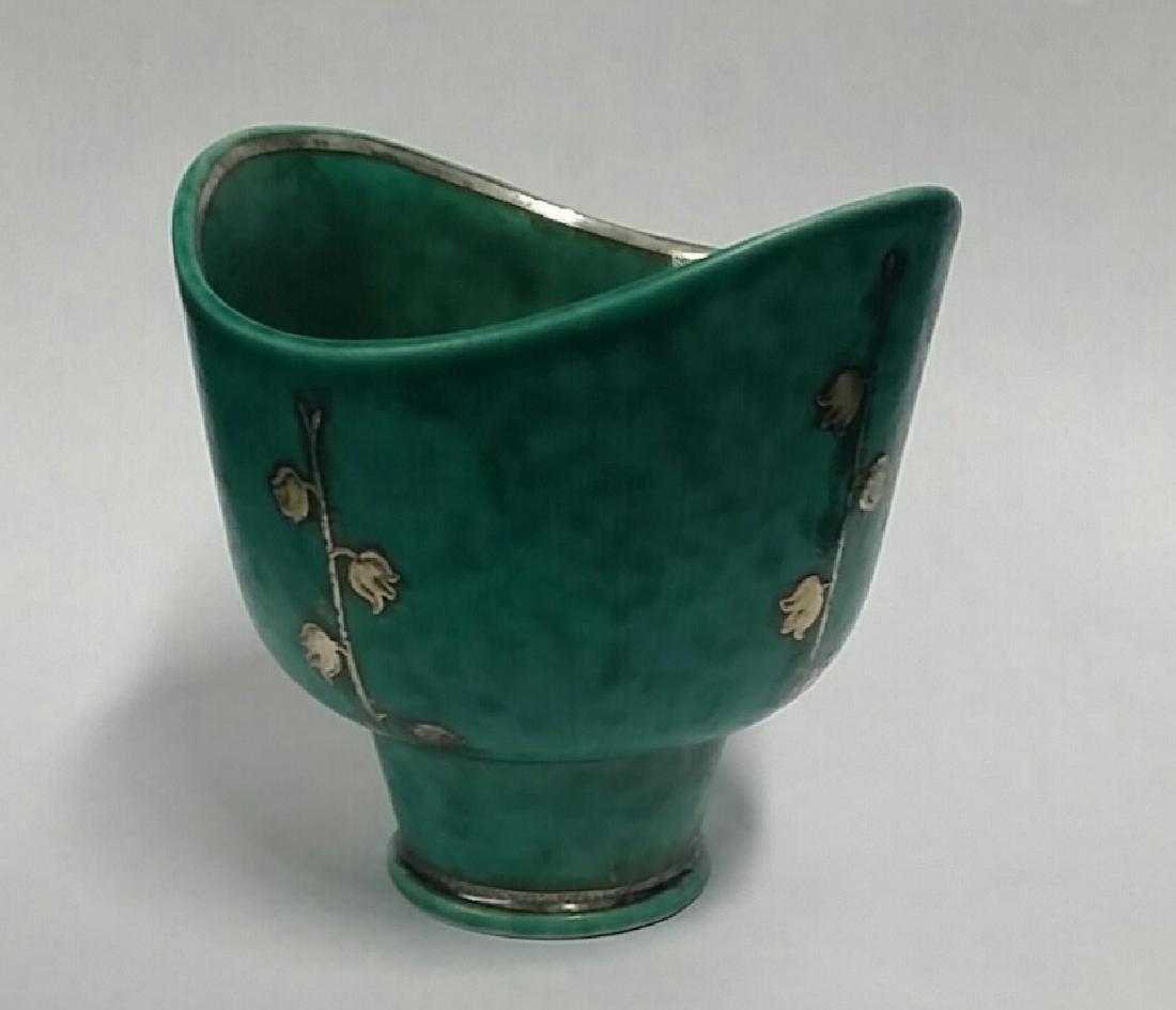 Vintage Gustavsberg Silver Overlay Cup