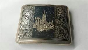 Vintage SIAM Sterling Silver Cigarette Case