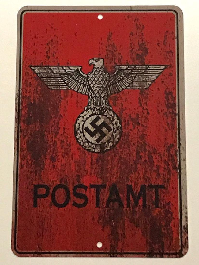 German Nazi Flying Eagle-Swastika Metal Sign