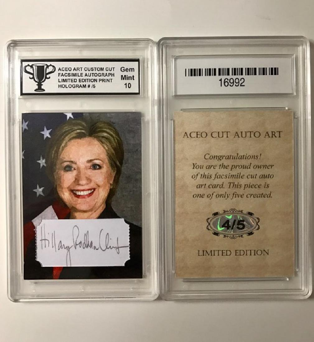 Scarce #4 of 5 HILLARY CLINTON Signed Art Card