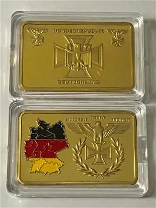 1oz .999 German Territorial Gold Clad Bar