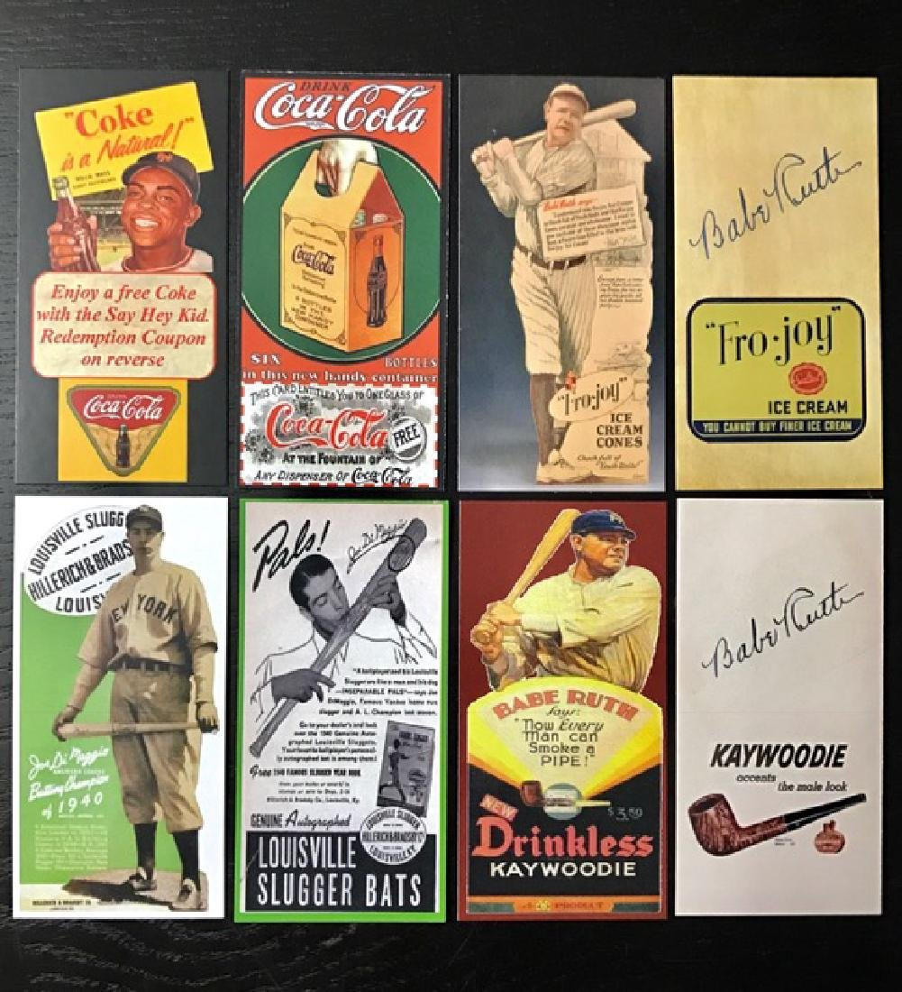 BABE RUTH/MAYS/DIMAGGIO Advertising Baseball Cards