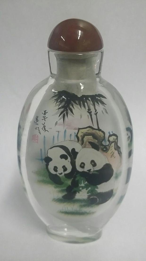 Large Reverse Painted Oriental Snuff Bottle