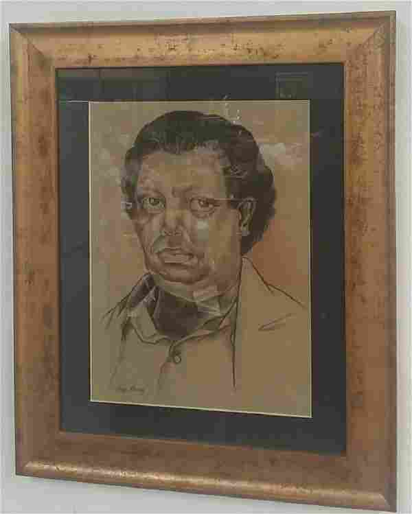 Attributed to Diego Rivera Pastel On Paper