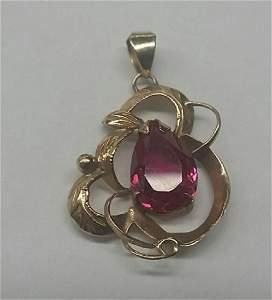 Vintage 18k Gold Necklace Pendant