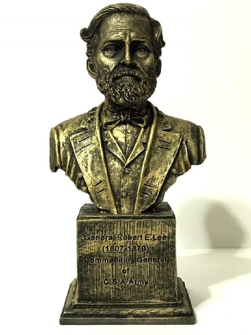 """Civil War ROBERT E. LEE Cast Bronze like Bust 12"""""""