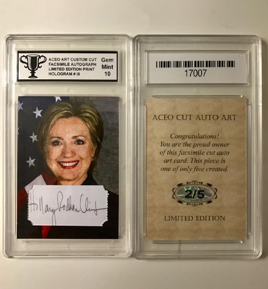 Scarce #2 of 5 HILLARY CLINTON Signed Art Card