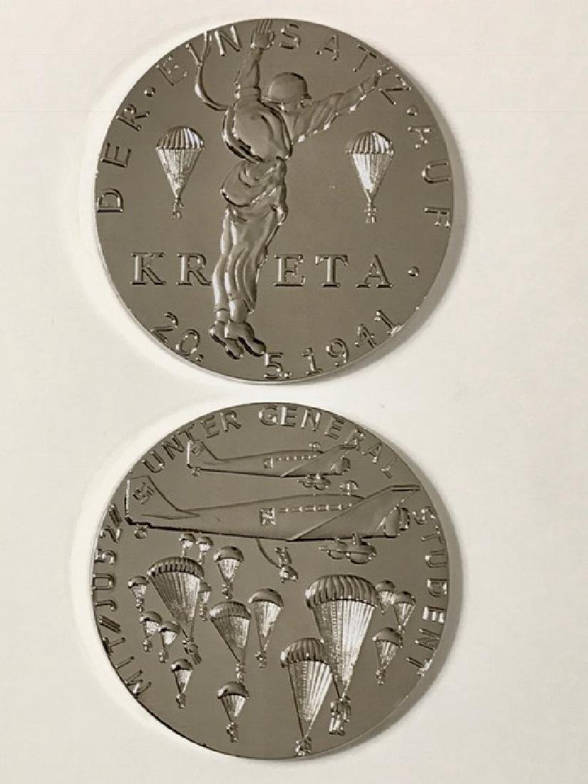 1941 WW2 Nazi KRETA 2.5oz German Silver Medallion