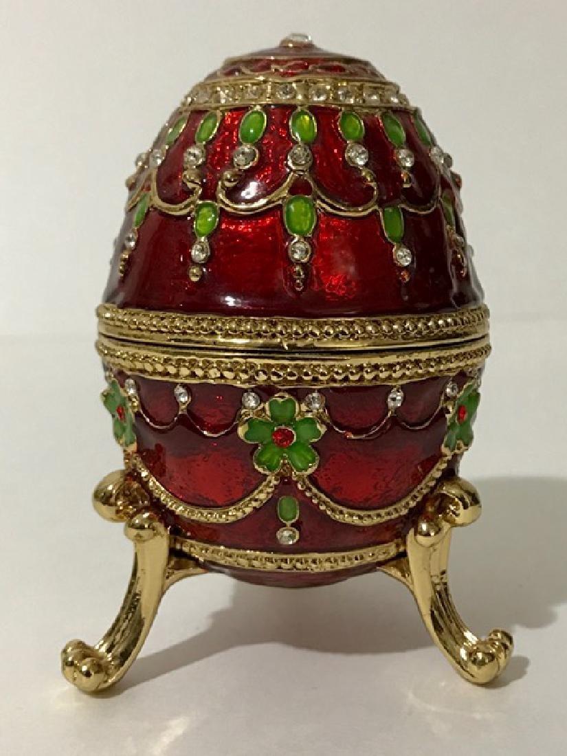 Russian FABERGE style Jeweled & Enameled EGG