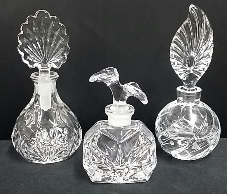 Lot of 3 European Style Perfume Bottles