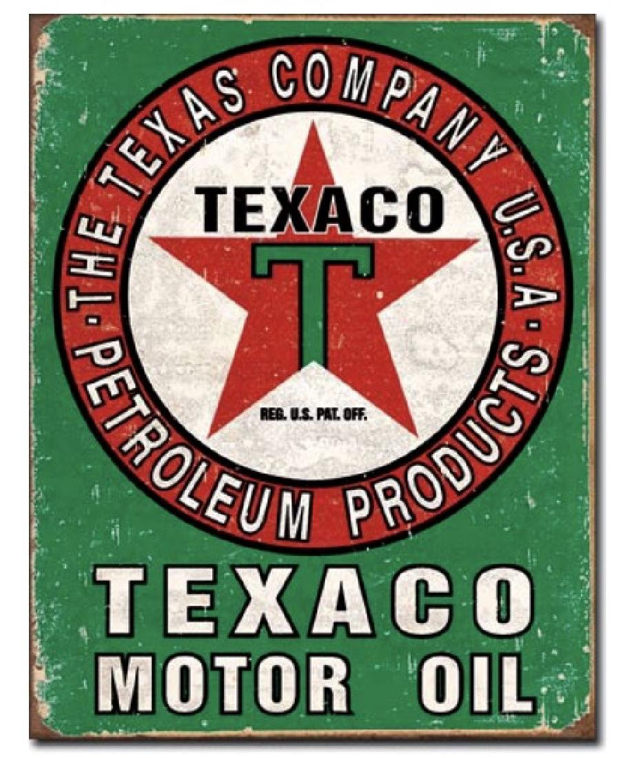 TEXACO Company Motor Oil Nostalgic Metal Sign