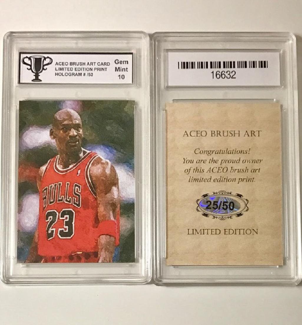 Rare MICHAEL JORDAN Brush Art Basketball Card