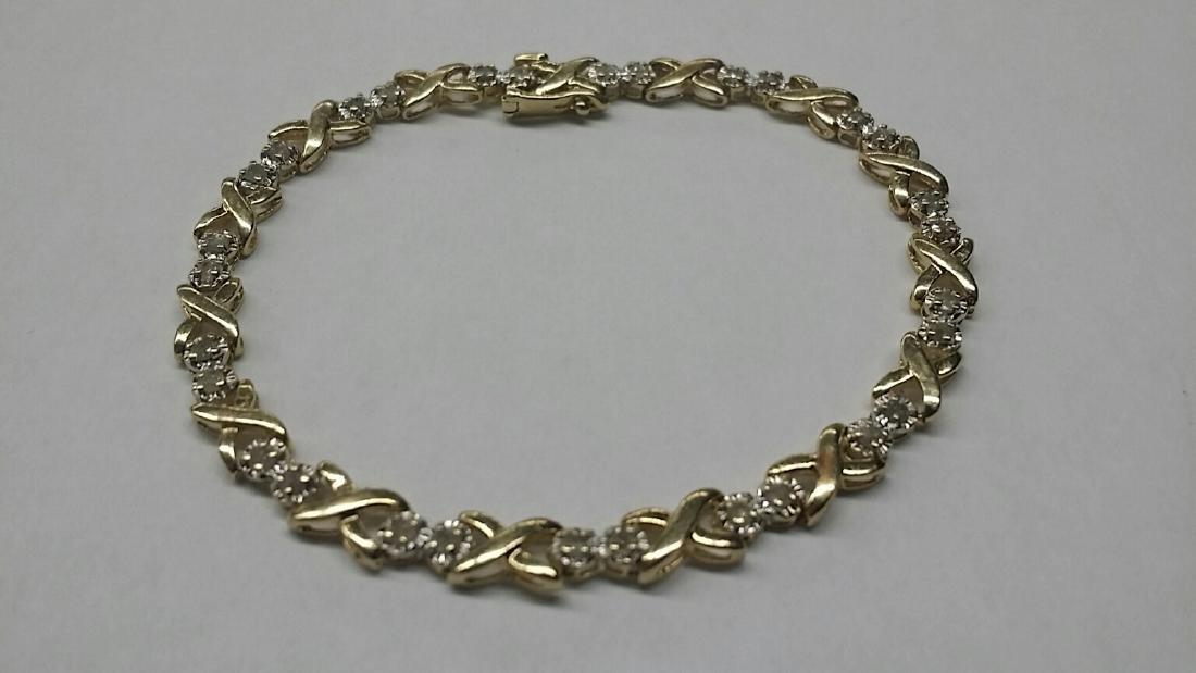 Vintage 14k Gold & Diamond Bracelet