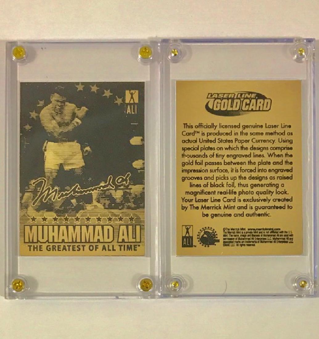 Rare Merrick Mint Gold MUHAMMAD ALI Boxing Card