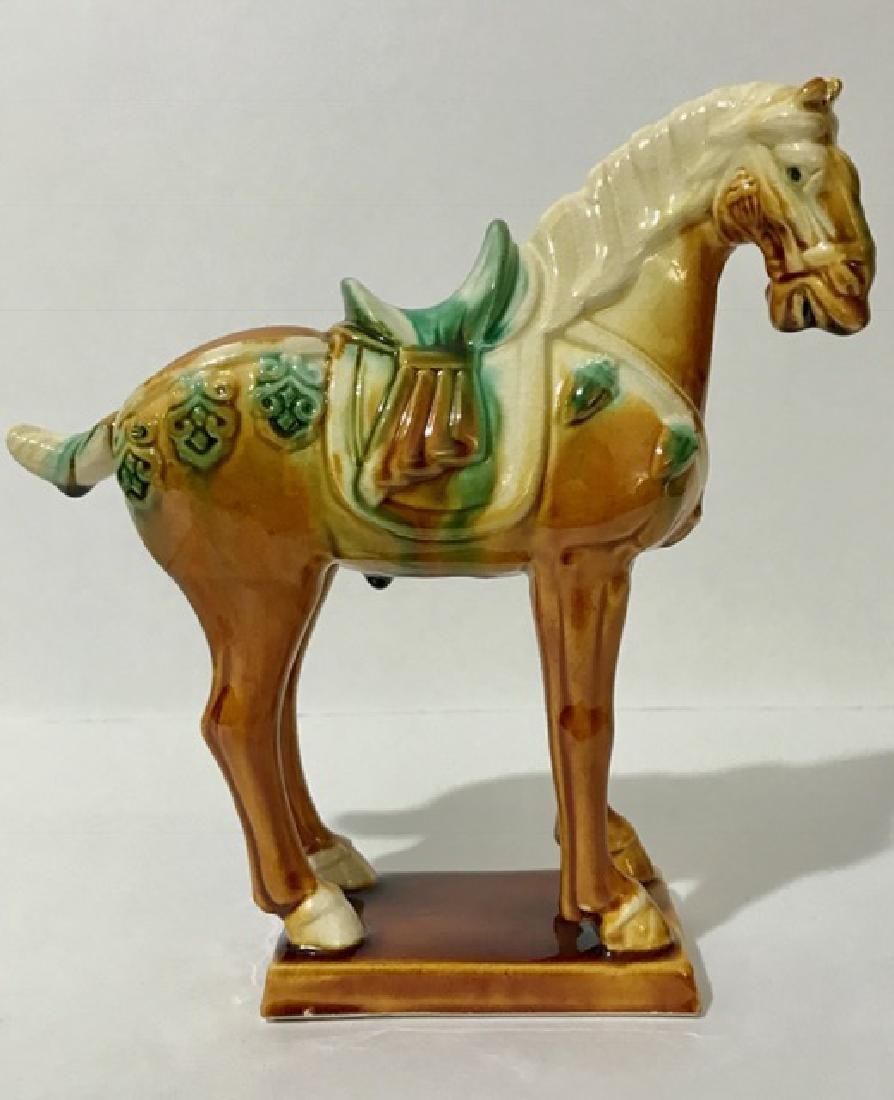 Majolica TANG DYNASTY Drip Glaze Pottery Horse