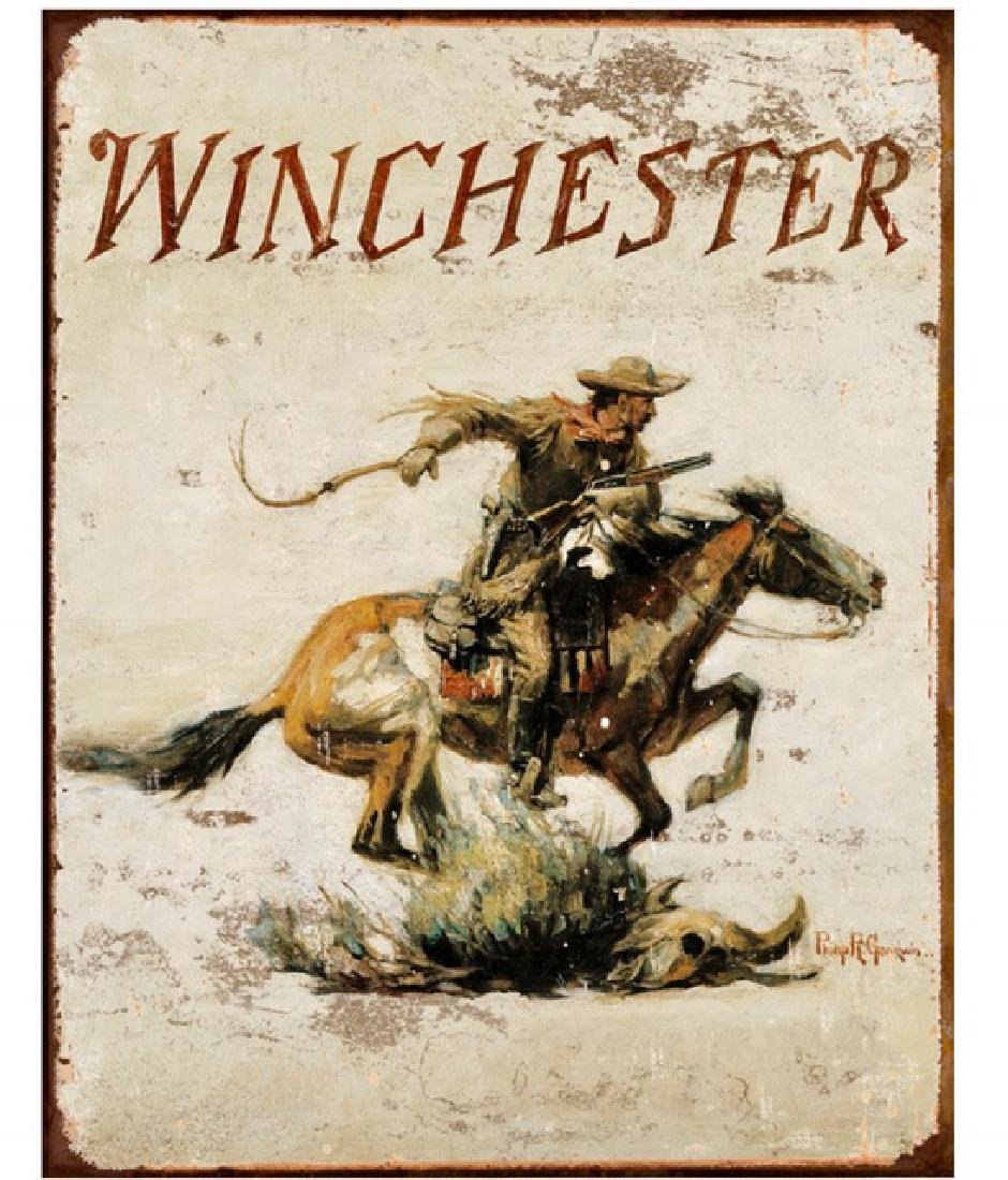 WINCHESTER Rifles Iconic Advertising Metal Sign