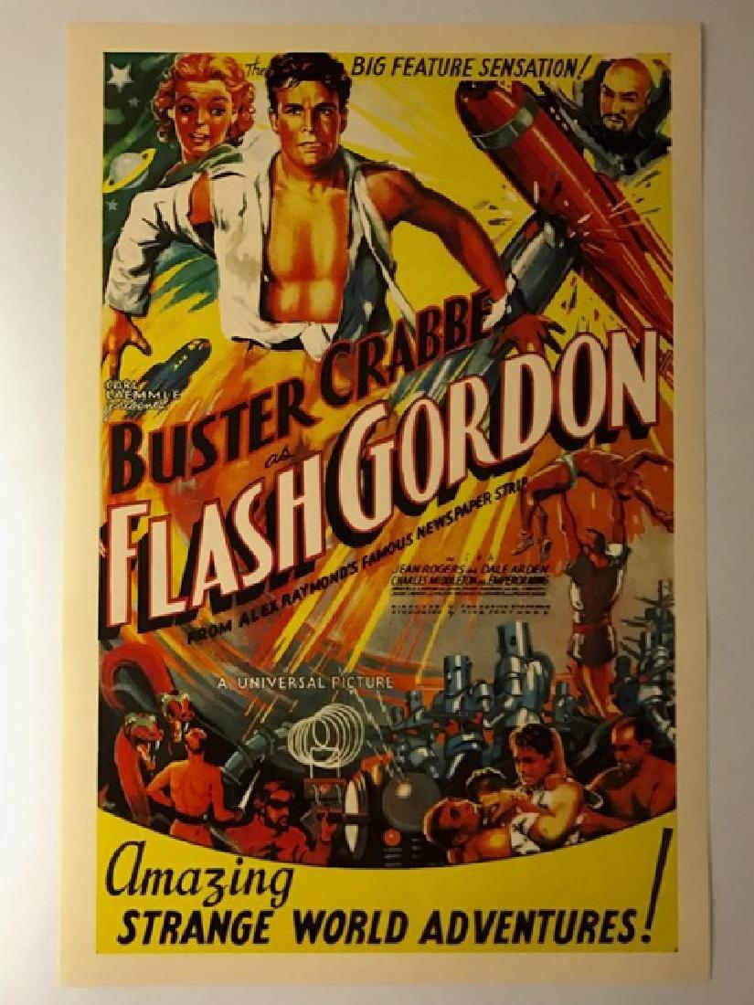 1930's FLASH GORDON Movie Theatre Lobby Poster