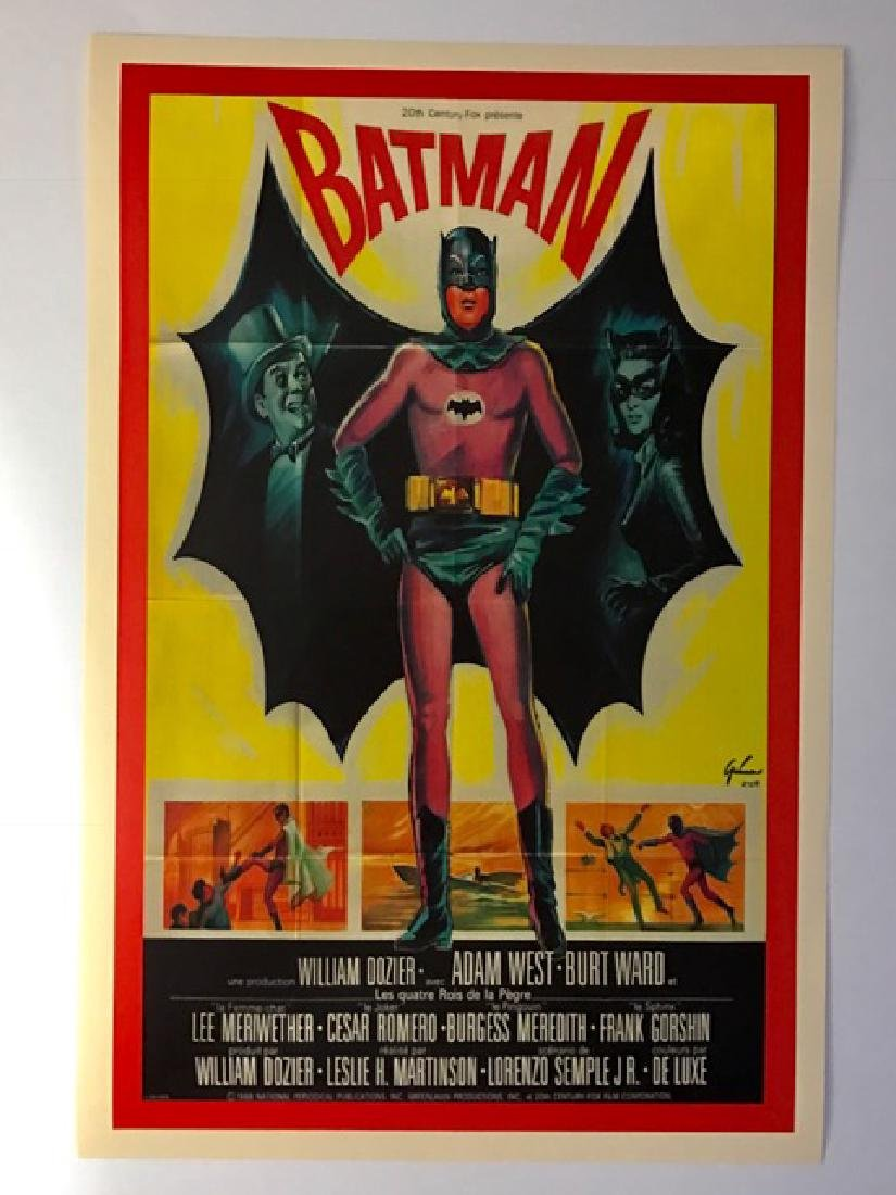 1960's BATMAN Movie Premiere Lobby Card Poster