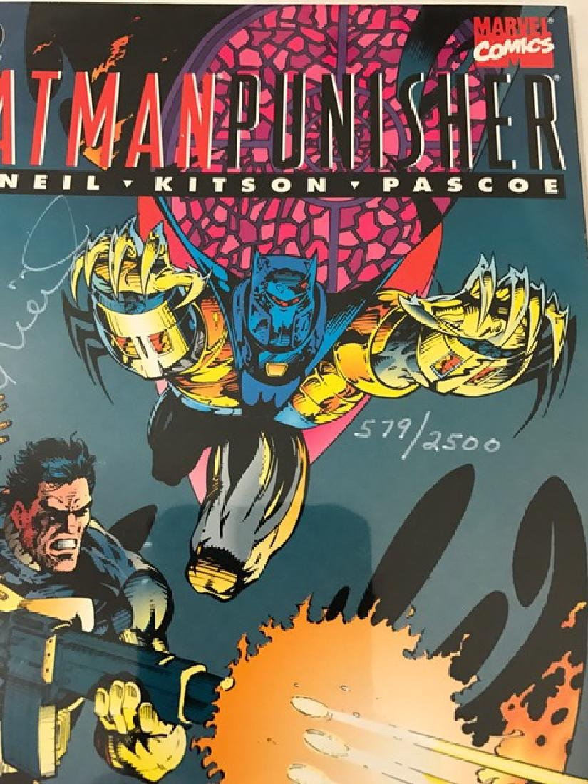 Authentic Hand Signed BATMAN/PUNISHER Comic Book - 3