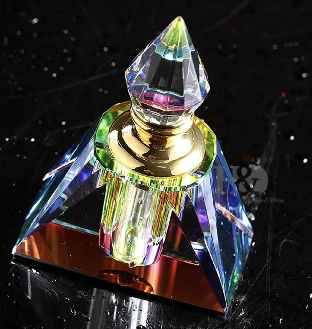 Stunning Translucent Colors Crystal Perfume Bottle - 2