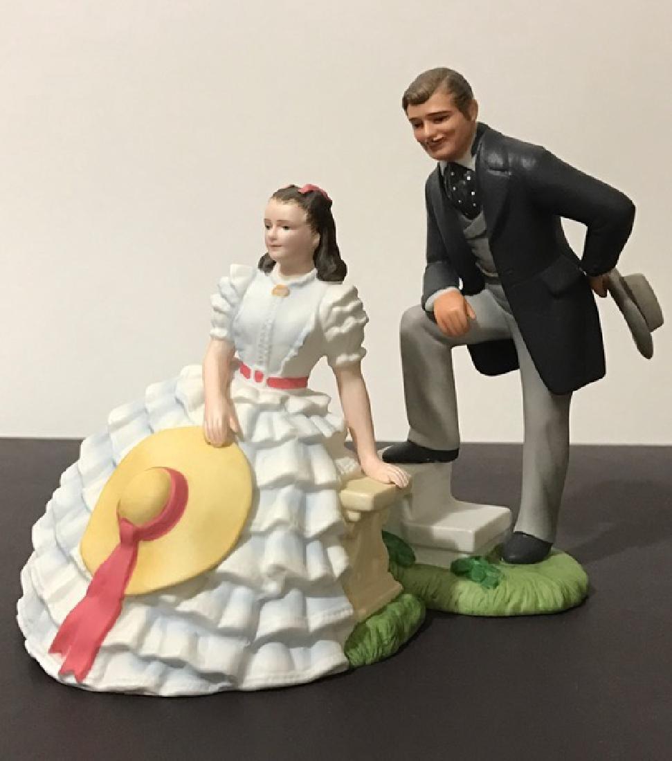 Pair 1939 Scarlett O'Hara & Rhett Butler Porcelain