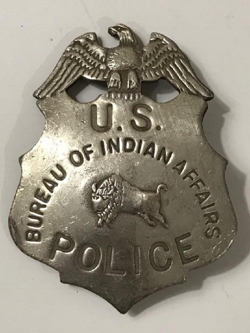 Old West Bureau of Indian Affairs US Police Badge