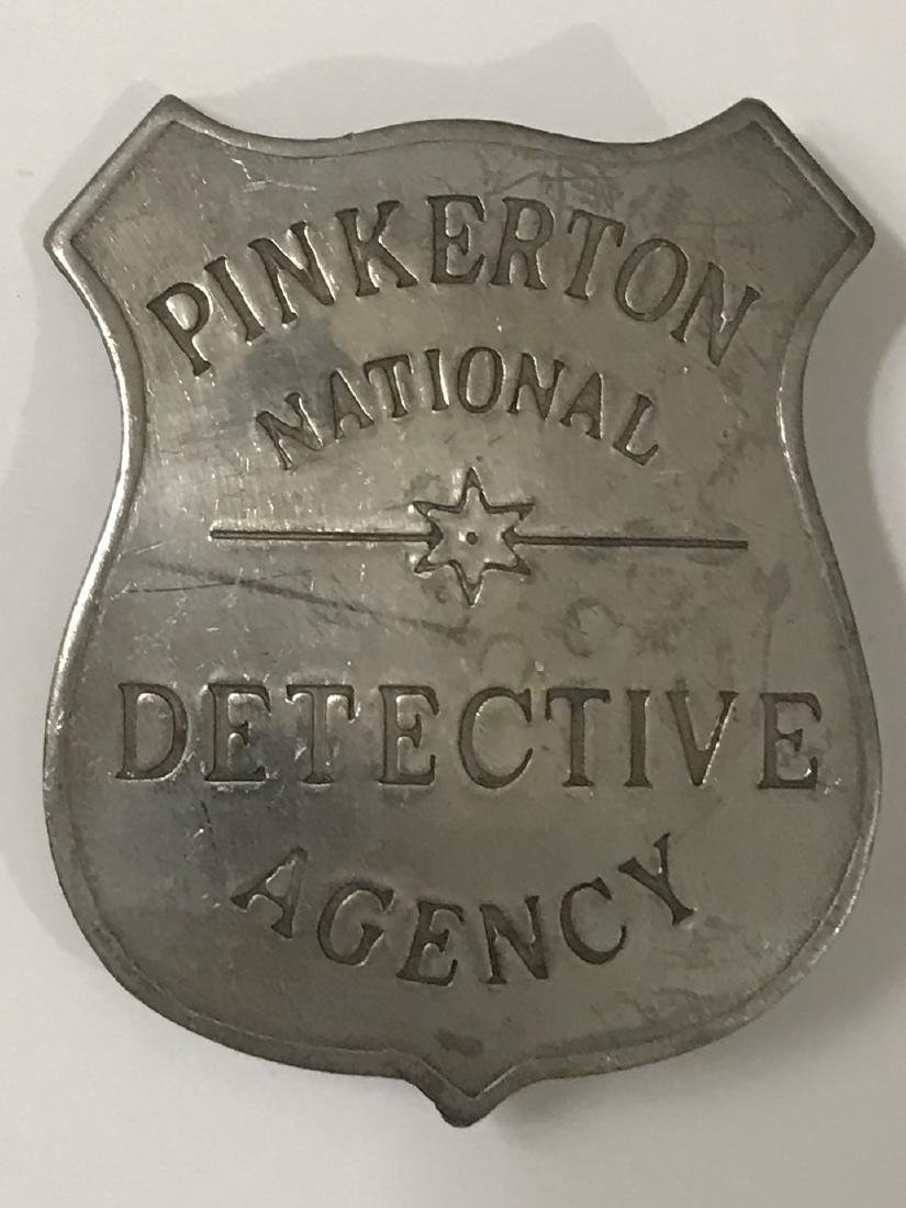 Old West PINKERTON National Detective Agency Badge