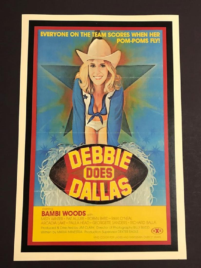 DEBBIE DOES DALLAS X-Rated Movie Lobby Poster