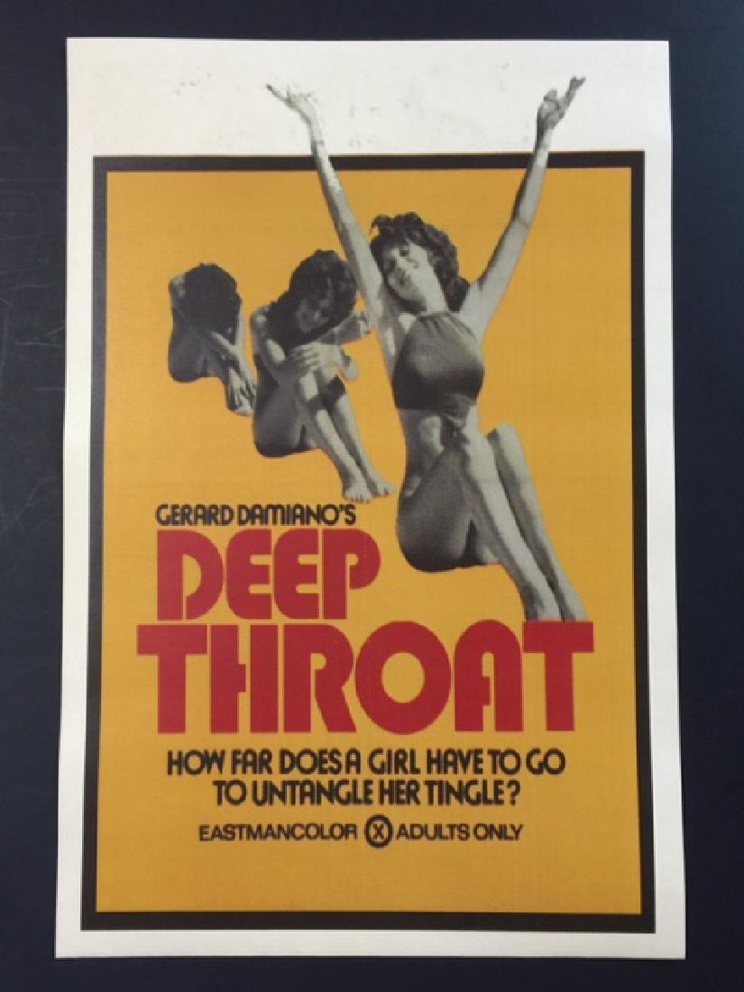XXX Rated DEEP THROAT Movie Lobby Card Poster