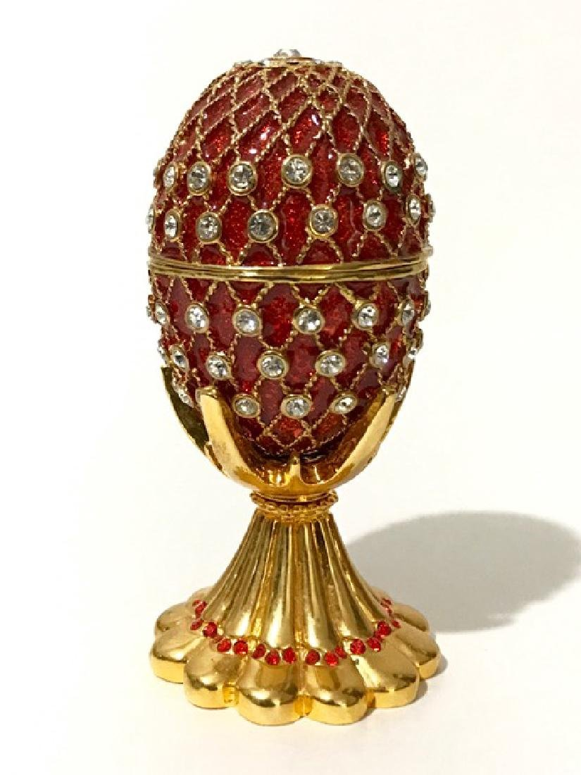 St. Petersburgh Russian FABERGE style Enameled EGG