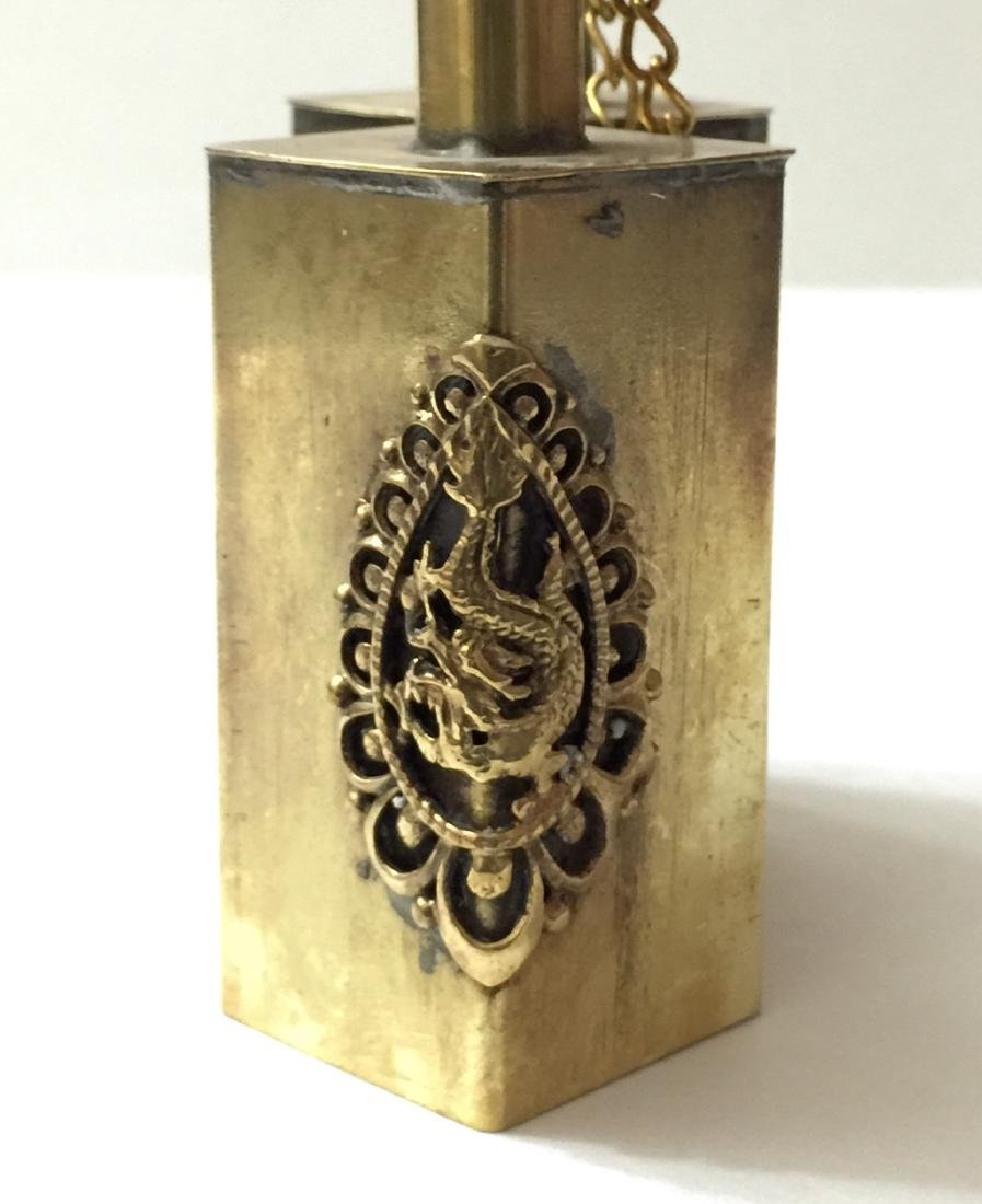 Unique Chinese Handmade Dual Copper Snuff Bottle - 3