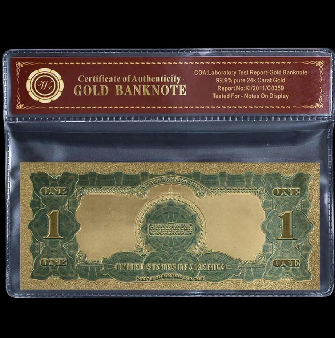 1899 – 24k Gold Black Eagle $1 Silver Certificate - 2