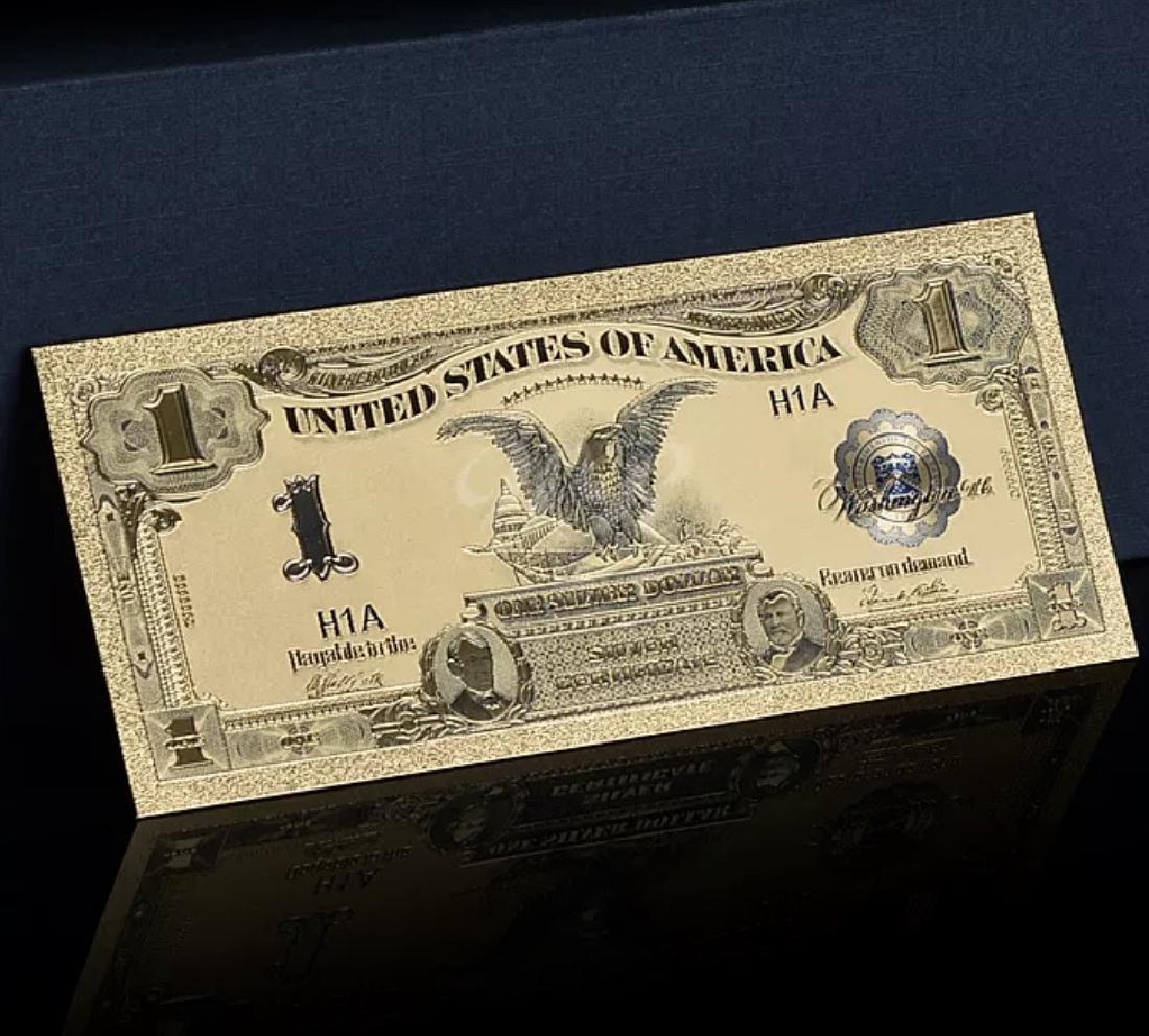 1899 – 24k Gold Black Eagle $1 Silver Certificate - 3