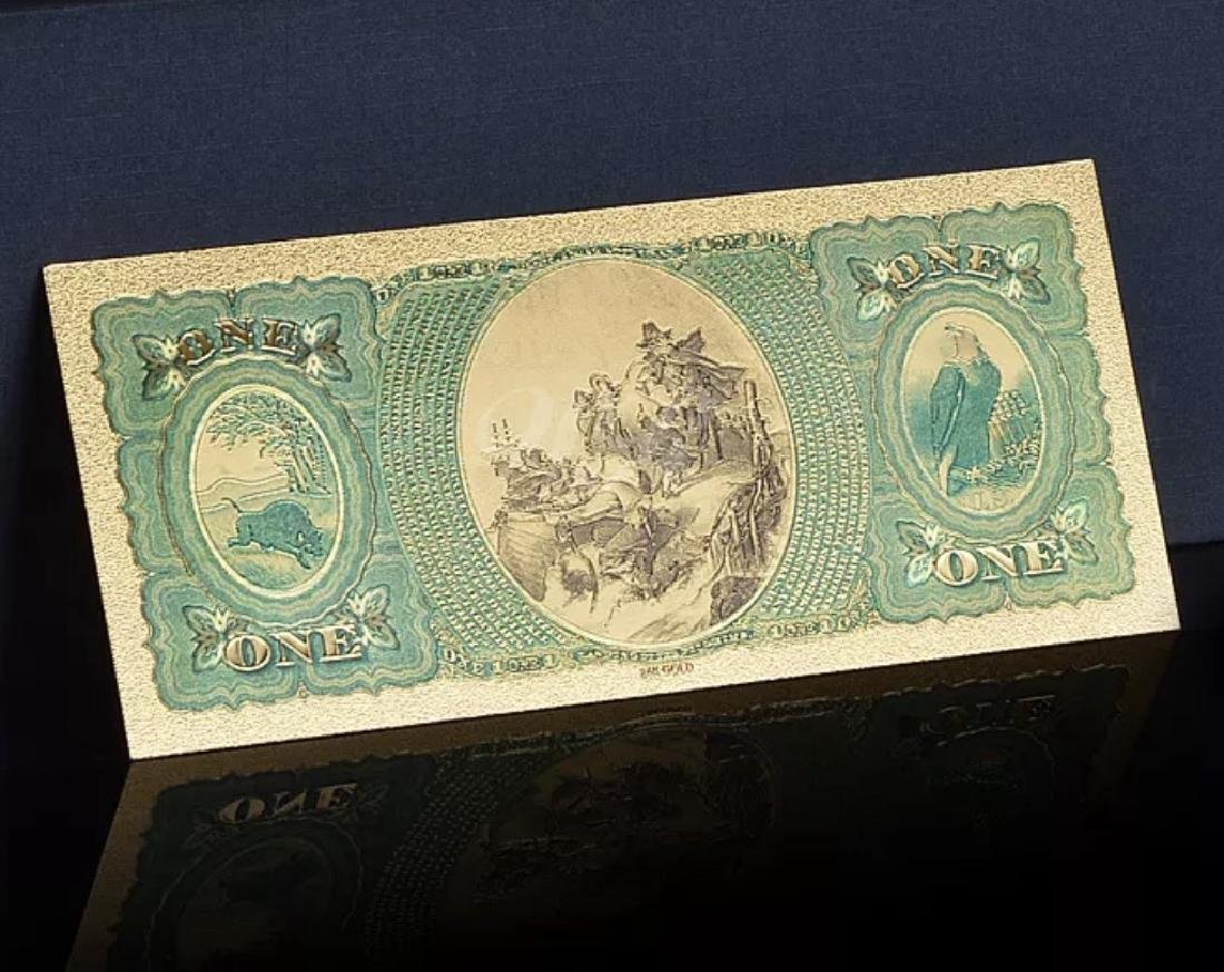 1875 – 24k Gold $1 - U.S. Banknote Currency Bill - 4